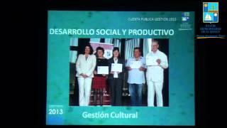 Cuenta publica Gestión 2013 Alcaldesa Natalia Carrasco