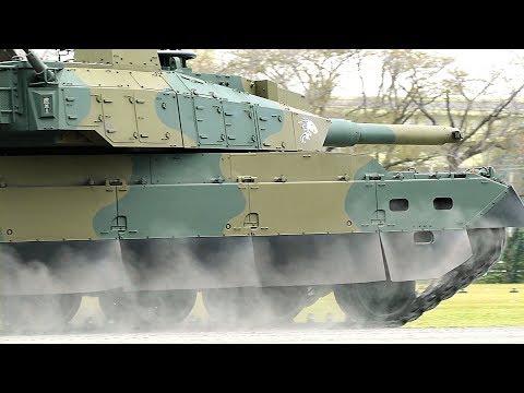 10式戦車「殺人ブレーキ」!&戦車橋を渡る89式装甲戦闘車 レアシーン続出、迫力の訓練展示 勝田駐屯地2018