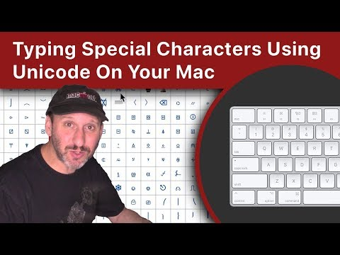 Typing Special Characters Using Unicode On Your Mac