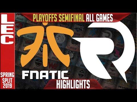FNC vs OG Highlights ALL GAMES | LEC Playoffs Semifinals Spring 2019 | Fnatic vs Origen