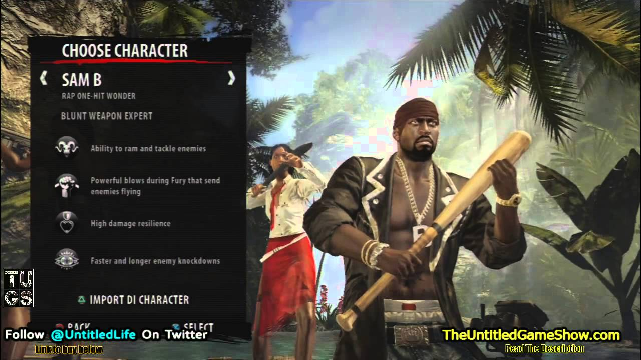Dead Island Riptide Characters Import