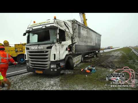 Vrachtwagen berging N50 t.h.v. Kampen-zuid: later