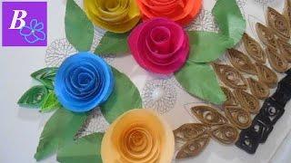 КВИЛЛИНГ корзина с розами  2 этап  ПОДЕЛКА из бумаги