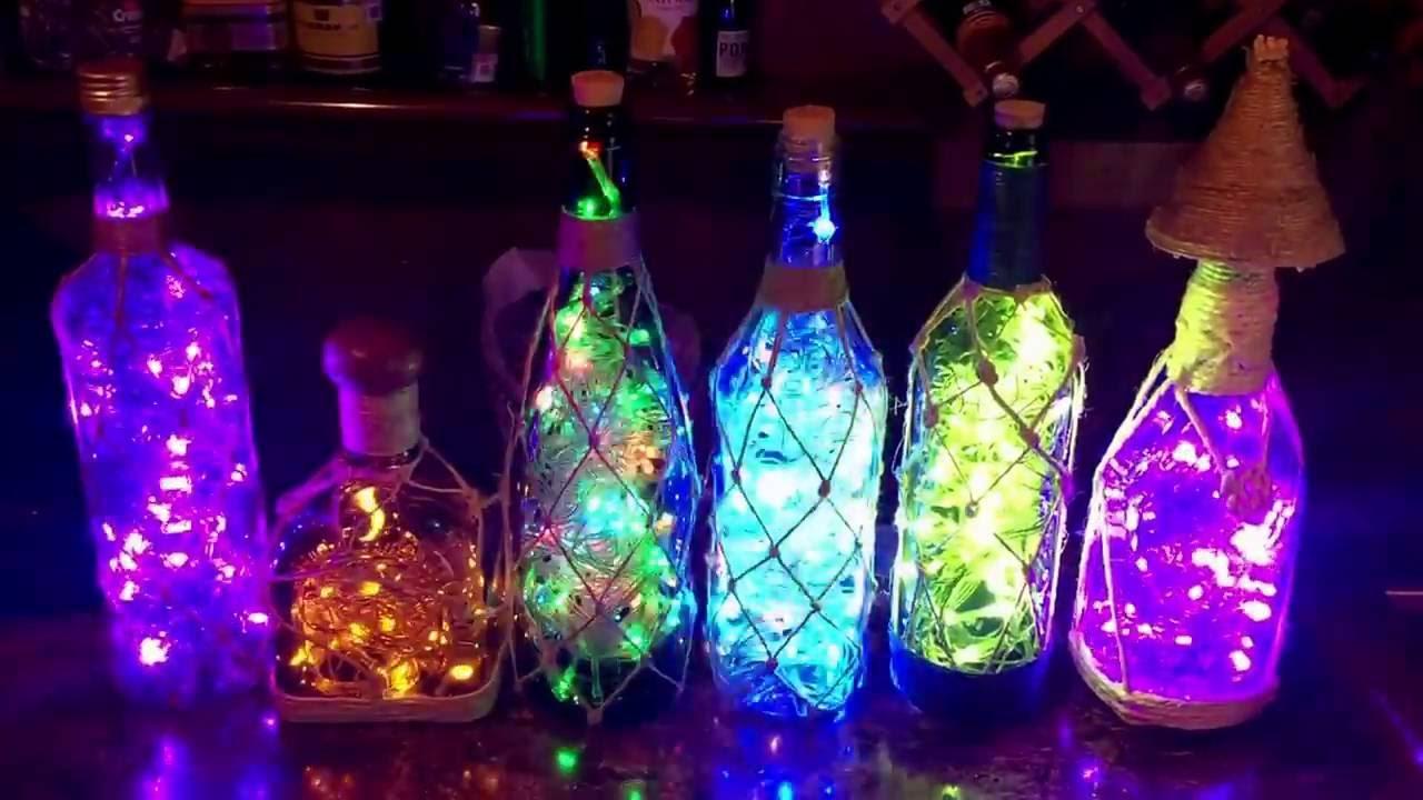 L mparas con botellas de vino youtube - Lamparas con botes de cristal ...