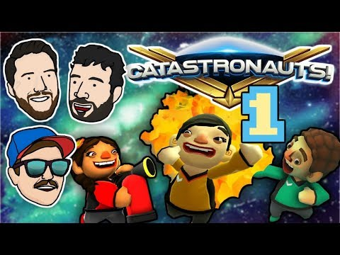 ANDY THE ASTRO ASSET | Lets Play Catastronauts - PART 1 | 2 Left Thumbs | Local Multiplayer Gameplay