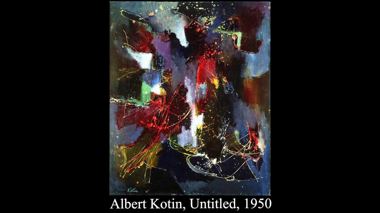 Albert Kotin-Abstract Expressionism-New York School 1950s action ...