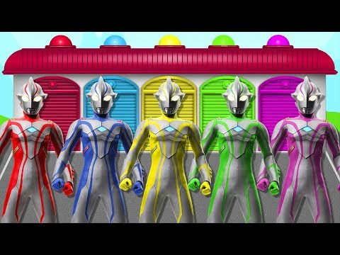 Learn Colors With Ultraman Ribut Nursery Rhymes For Kids And