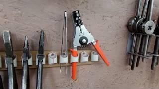 Ручной инструмент стриппер для зачистки электро проводов в своем хозяйстве