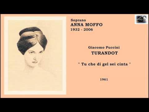 """Soprano ANNA MOFFO - Turandot """"Tu Che Di Gel Sei Cinta""""  (1961)"""