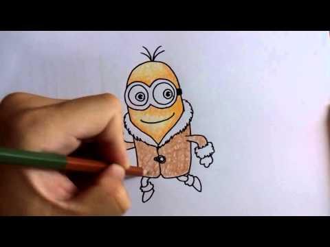 วาดรูป ระบายสี มินเนี่ยน Minions by วาดการ์ตูน กันเถอะ