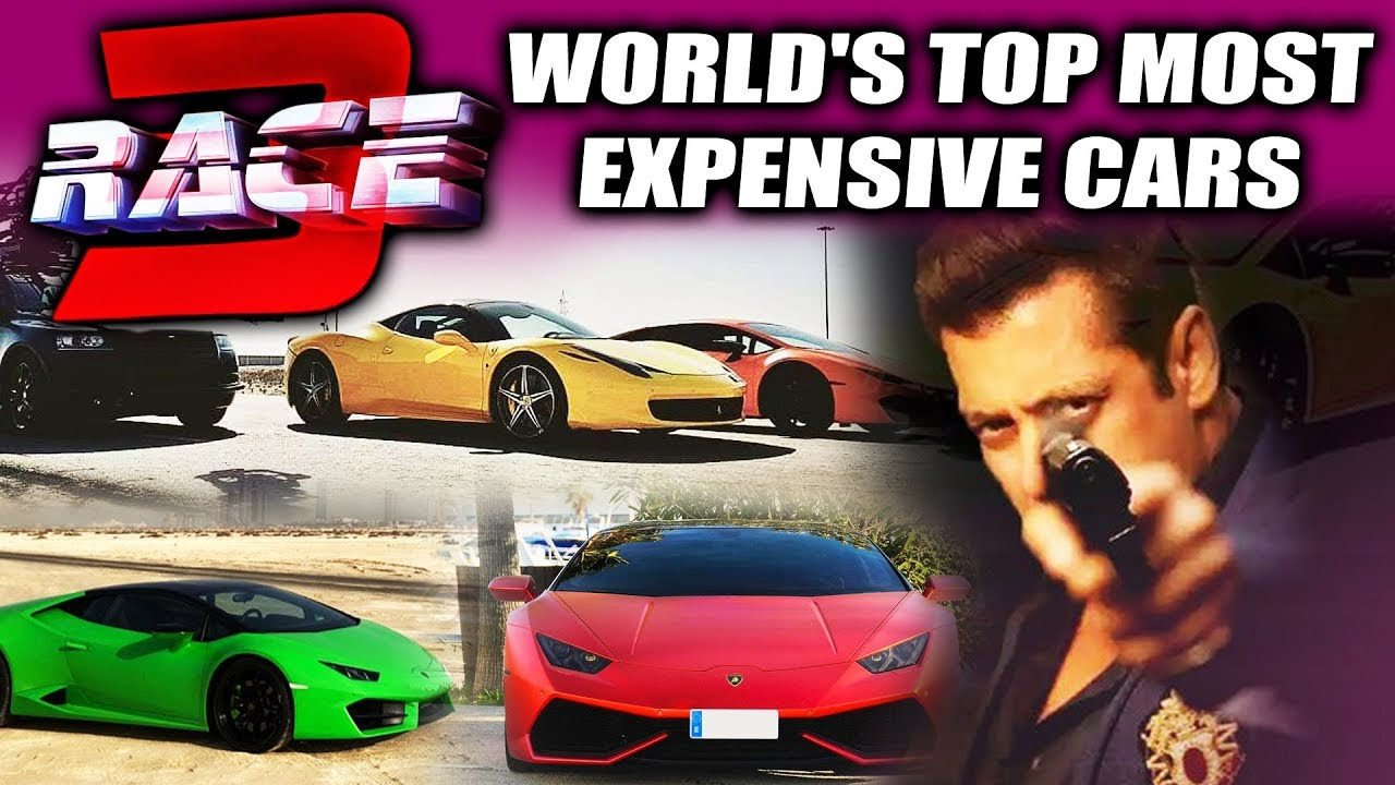 EXPENSIVE CARS Used In Salman Khan\'s RACE 3 CLIMAX - Watch Video ...