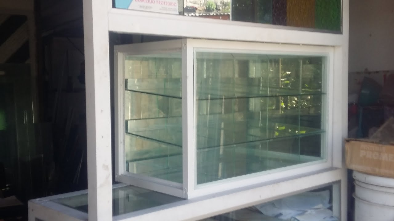 Como hacer una vitrina de aluminio 1  YouTube