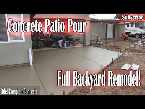 How to Pour a Concrete Patio Full Backyard Remodel!