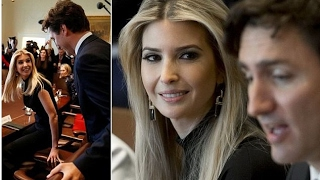 Ivanka Trump made her first appearance at a White House policy session on Monday.