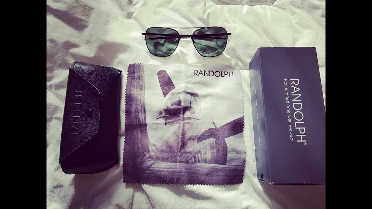a5f09bc8aa Randolph Engineering Square Aviator Sunglasses Black lunette unboxing  .🇫🇷🕶️