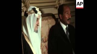 SYND 31 7 74 KING FAISAL MEETS PRESIDENT SADAT
