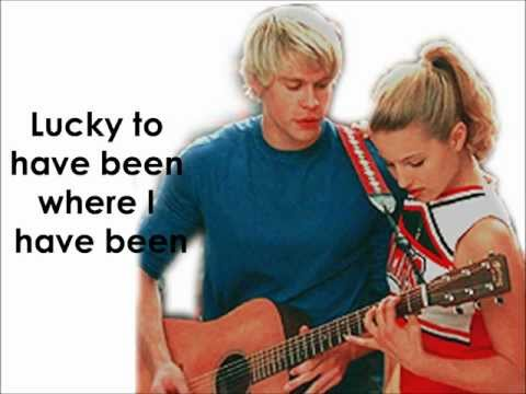 Glee - Lucky (Lyrics)