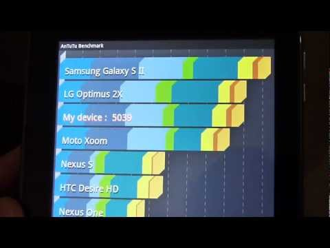 Acer ICONIA TAB A100 benchmark tests