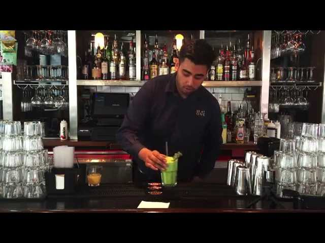 Video about an Alcoholic Green Veg Drink