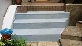 콘크리트 계단 미끄럼방지 페인트 시공 완료모습