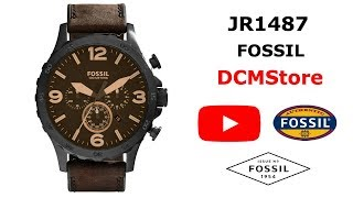 JR1487 Fossil Nate Chronograph Brown Dial ..... DCMStore