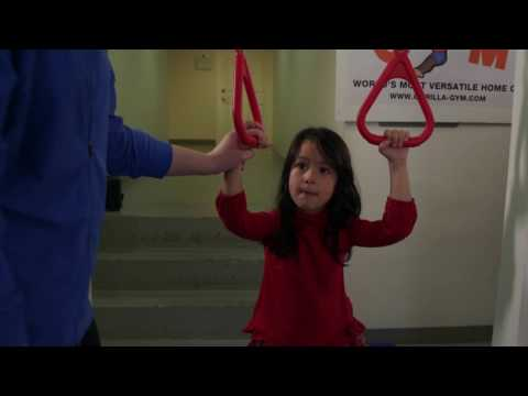 Gorilla Gym Preschool Exercises: Rings with Lana