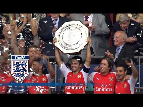 Arsenal v Manchester 3-0 Trophy lift - Community Shield   Inside Access