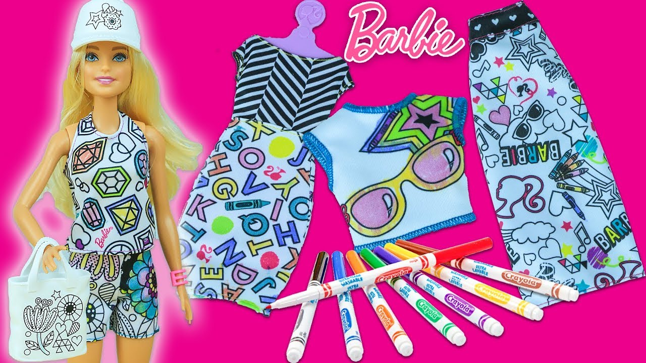 Barbie Kıyafet Boyama Barbie Outfit Coloring Evciliktv Youtube
