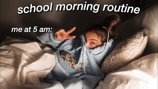 an average high school morning routine