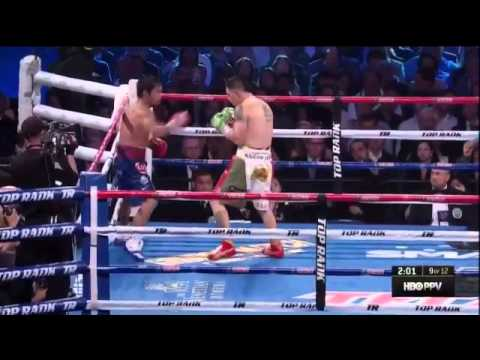 PACQUIAO VS RIOS in HD (fight highlights and what made pacquiao very angry)