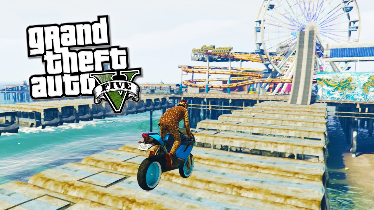 GTA 5 Online - Mega Stunts & Jumps! Fun GTA 5 Playlist! (GTA 5 Funny  Moments)