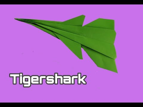 How To Make Paper Airplane - Easy Paper plane Origami Jet Fighter | Tigershark