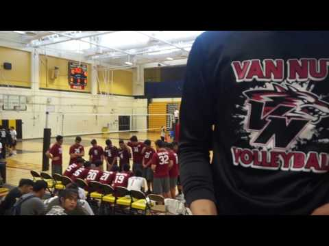 Boys Volleyball: Van Nuys vs. San Fernando JV (2017)