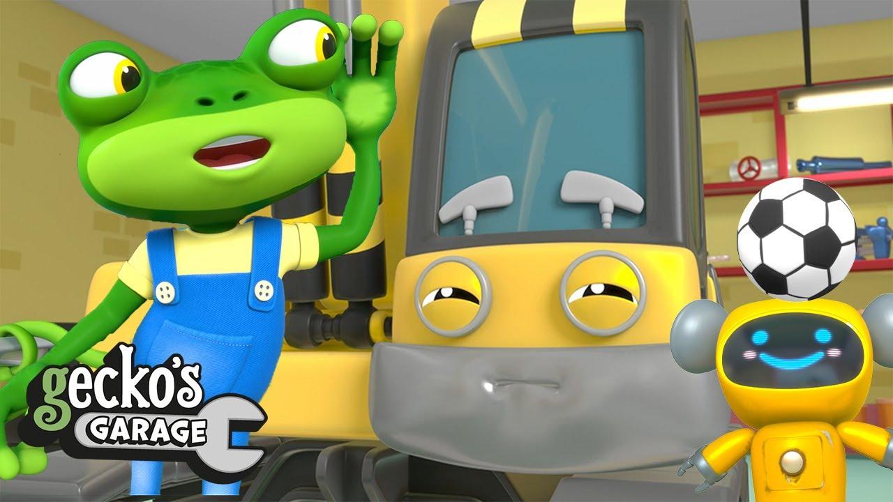 Big Excavator Service|Gecko's Garage|Construction Trucks|Educational Videos For Kids|Funny Cartoon