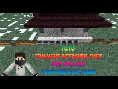 Minecraft Tuto : Comment Relier/attacher Des Wagons Pour Créer Un Train