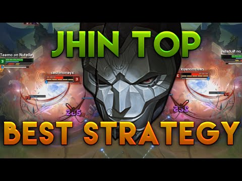 Jhin Top Gameplay BEST STRATEGY *GONE WILD* - League of Legends