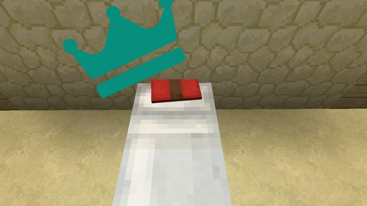 a bed with pillow in minecraft