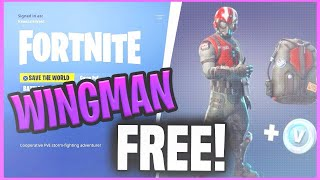 *GLITCH* WINGMAN STARTER PACK FOR FREE! IN FORTNITE BATTLE ROYALE! (NEW SKIN FOR FREE)