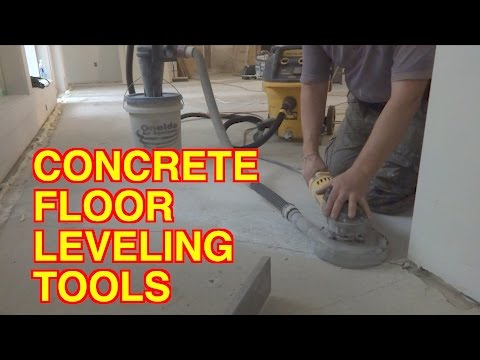 Concrete Floor Leveling Tools: How To Grind Concrete Subfloor Without Dust  - Mryoucandoityourself