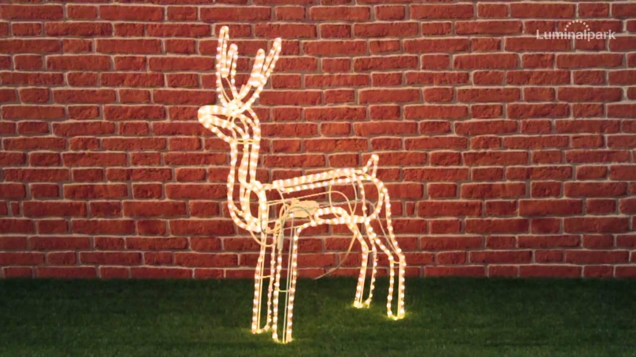 Come Creare Una Renna Luminosa renna con testa rotante, h. 96 cm, lampade chiare (cod. 32989)