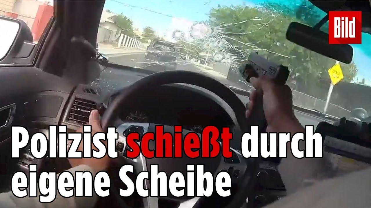 Polizist gibt bei Verfolgungsjagd 31 Schüsse auf Flucht-Auto ab