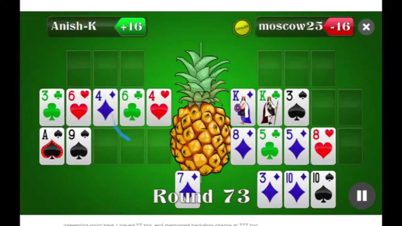 Chinese poker pineapple