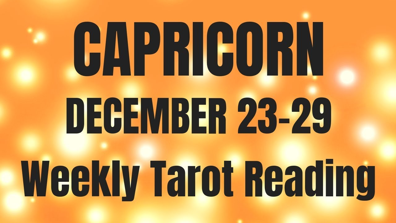 capricorn tarot december 23 2019