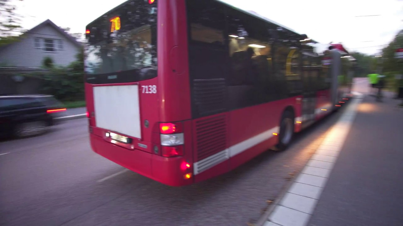 sweden, stockholm, ride with bus no 710 from stuvsta centrum to