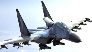 SUKHOI Super Jet Fighter - AIR FORCE SHOW - Pameran Dirgantara TNI AU Indonesia [HD]
