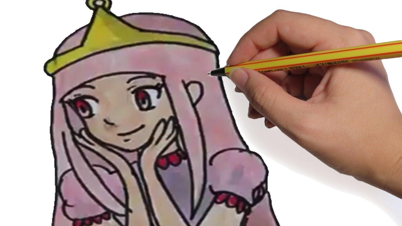 Como Dibujar Anime Dulce Princesa Princesa Chicle De Hora De