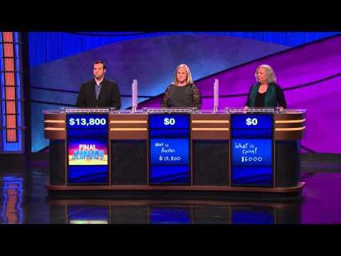 Unusual Jeopardy! 3 way loss (1/18/16)