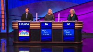 Unusual Jeopardy! 3 way loss (1/18/16)