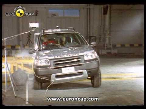 euro ncap land rover freelander 2002 crash test youtube. Black Bedroom Furniture Sets. Home Design Ideas