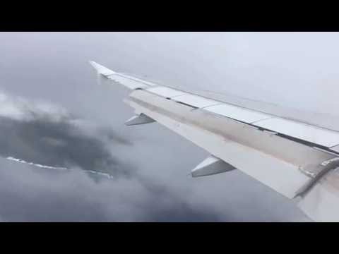 Flight landing in Christmas Island